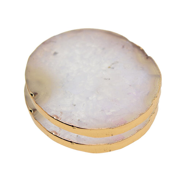 Crystal Agate Coasters, Set Of 2 - The Quirky Home Co