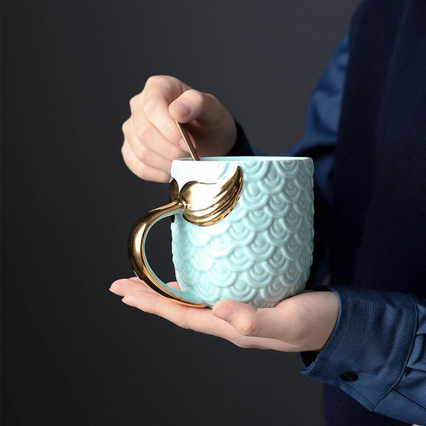 Ceramic Mermaid Mug - The Quirky Home Co