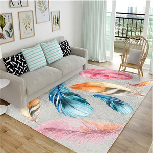 Feather Art, Anti Slip Rug - The Quirky Home Co