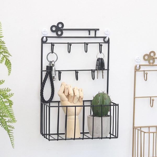 Wall Hanging Hooks Rack