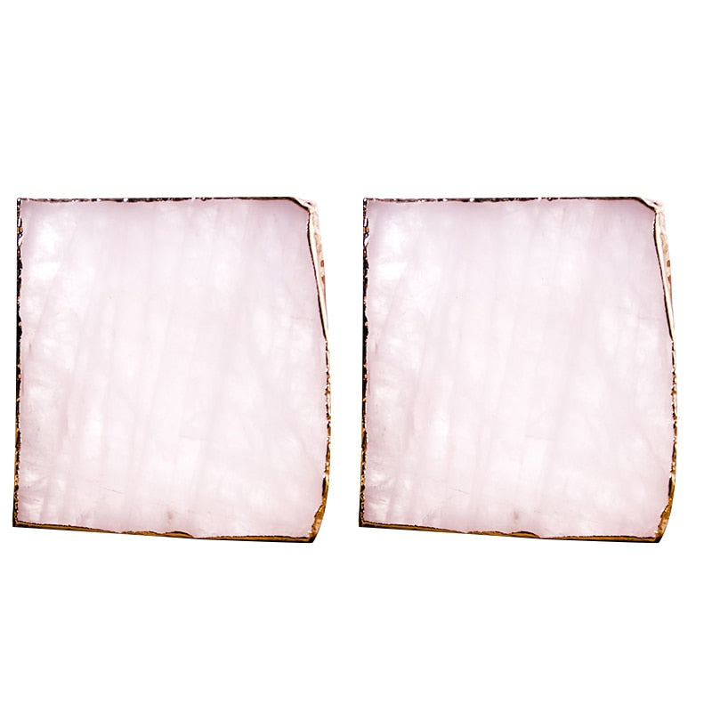 Agate Slice Pink Coaster, Pack Of 2. - The Quirky Home Co