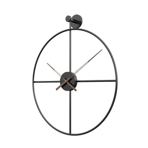 Adriano Black 20 Inch Wall Clock - The Quirky Home Co