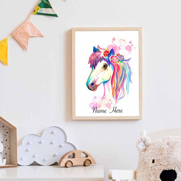 Horse Personalilsed Name Wall Art - The Quirky Home Co