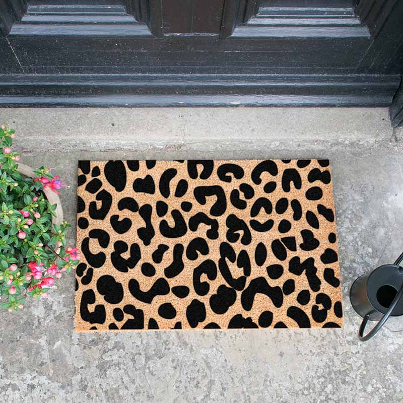 Leopard print doormat - The Quirky Home Co