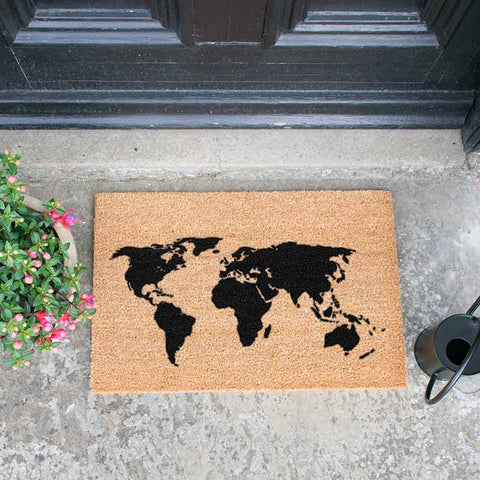 World Map Doormat - The Quirky Home Co