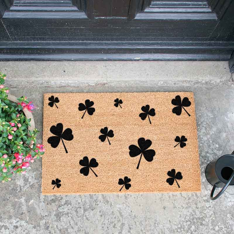 Shamrocks Doormat - The Quirky Home Co