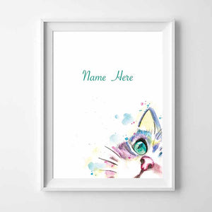 Kitten Personalised Name Wall Art - The Quirky Home Co