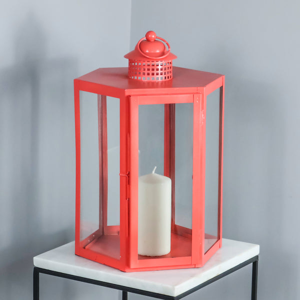 Indoor Outdoor Living Coral Lantern