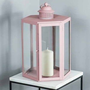 Indoor Outdoor Pale Pink Lantern - The Quirky Home Co