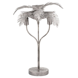 Antique Bronze Palm Leaf Table Lamp - The Quirky Home Co