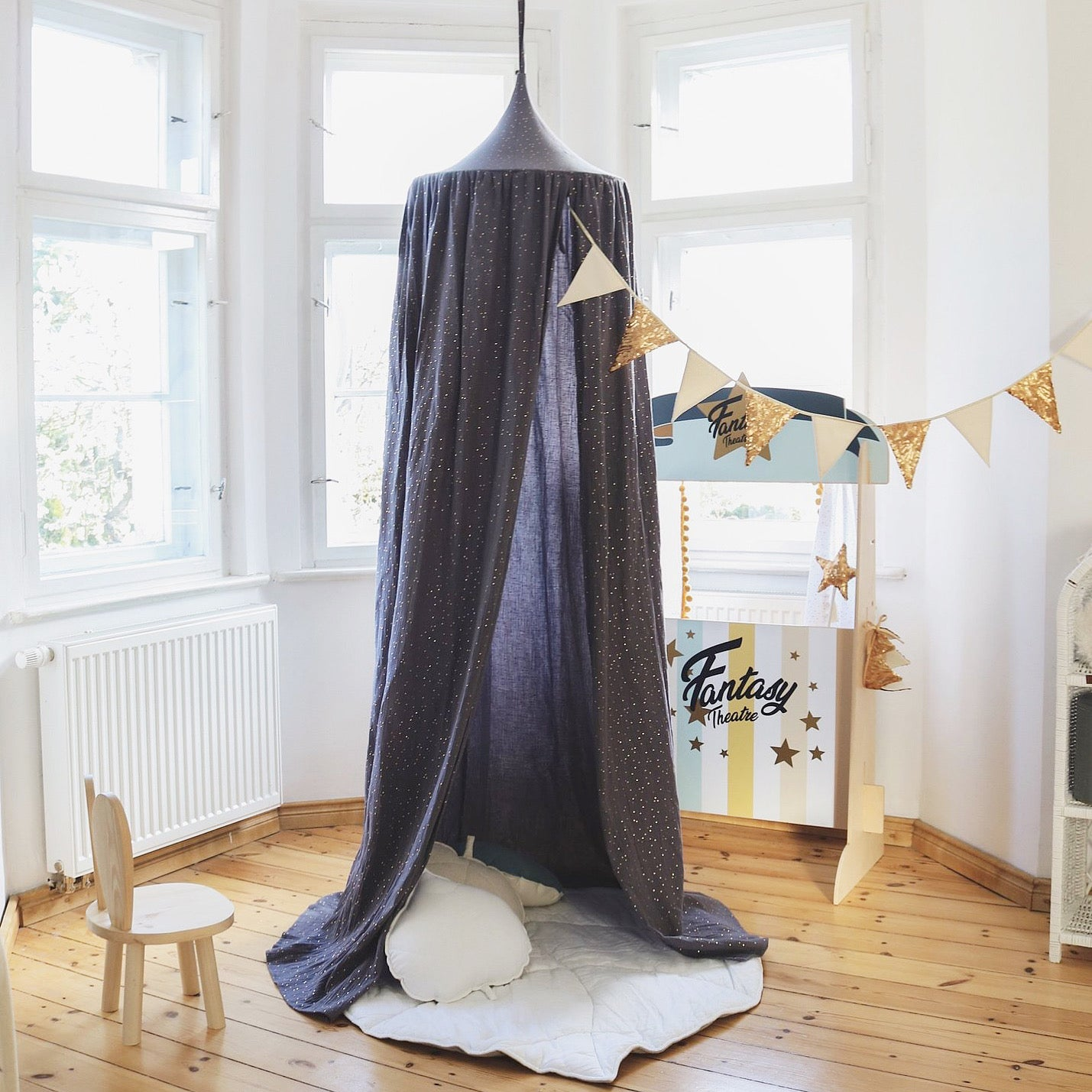 Anthracite Indoor Canopy - The Quirky Home Co
