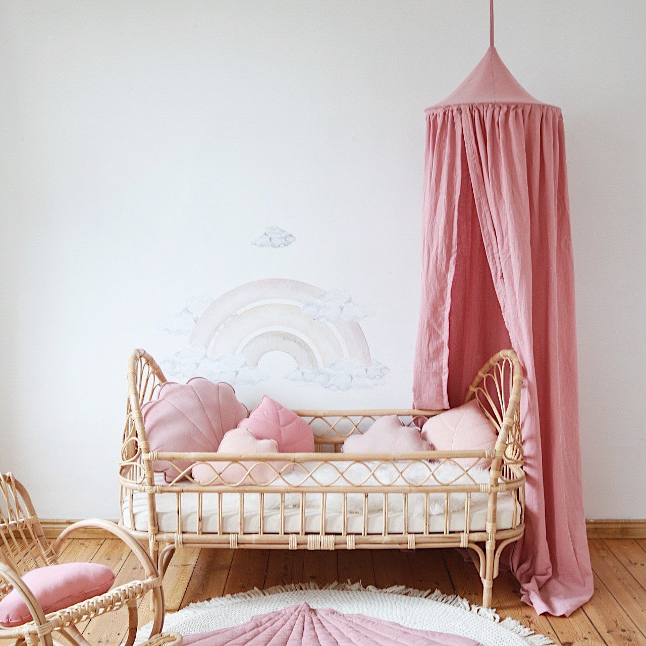 Soft Pink Indoor Canopy - The Quirky Home Co