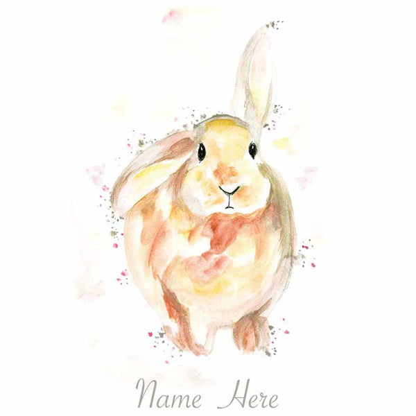 Rabbit Personalilsed Name Wall Art - The Quirky Home Co