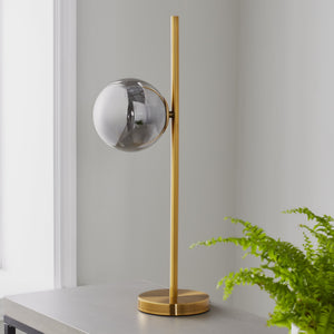 Sphere Gold Table Lamp - The Quirky Home Co