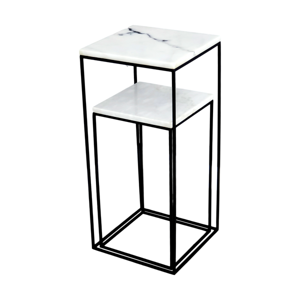 Marble Display Tables, Set Of 2