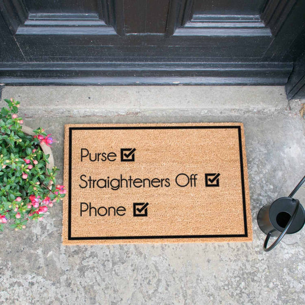Purse, Straighteners , Phone Doormat - The Quirky Home Co