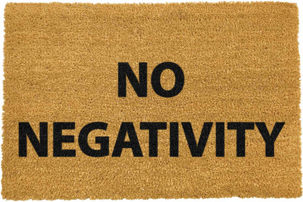 No Negativity Doormat - The Quirky Home Co