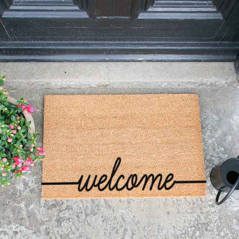 Curly Welcome doormat - The Quirky Home Co