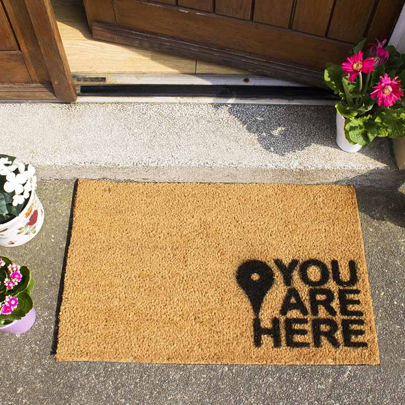 You are Here Doormat - The Quirky Home Co