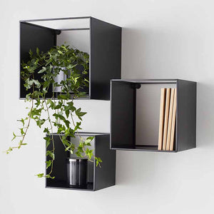 Black Box Metal Shelves (set of 3) - The Quirky Home Co