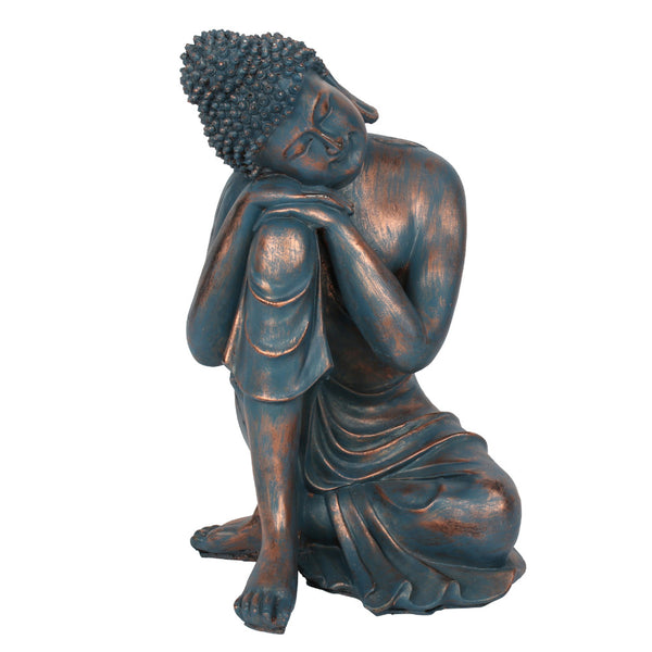 Blue Hands on Knee Buddha - The Quirky Home Co