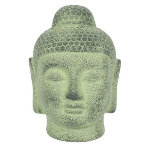Green Terracotta Buddha Head Ornament - The Quirky Home Co