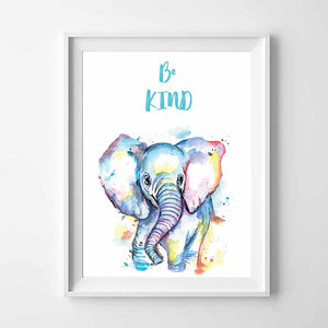 Be Kind Elephant Wall Art - The Quirky Home Co