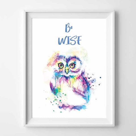 Be Wise Owl Wall Art - The Quirky Home Co
