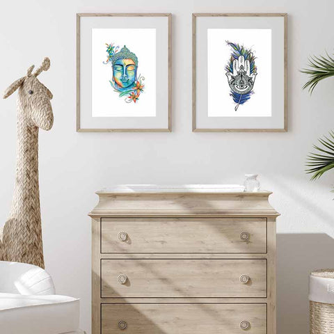Hamsa Hand Wall Art - The Quirky Home Co