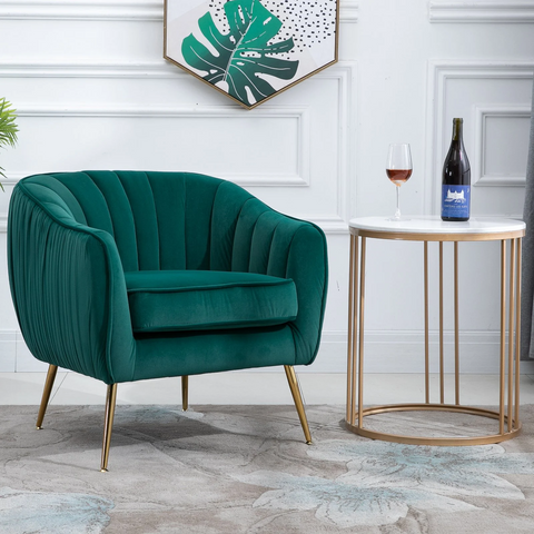 Decedent Armchair Emerald Green - The Quirky Home Co