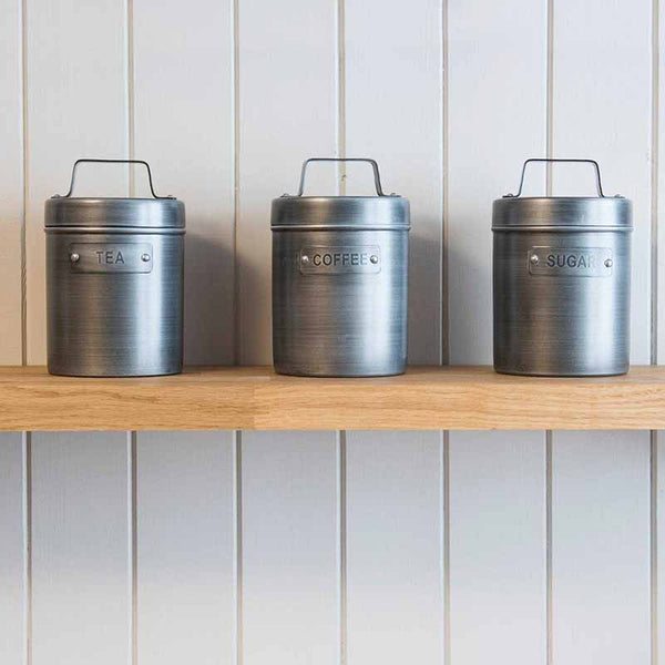 Factory Tea, Coffee, Sugar Caddies / Canisters  - The Quirky Home Co