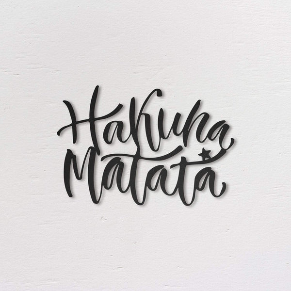 Hakuna Matata - Metal Wall Art - The Quirky Home Co