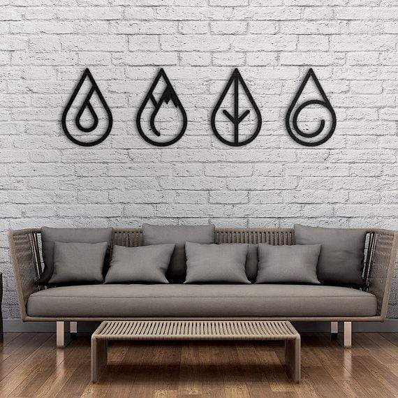 Four Elements - Metal Wall Art - The Quirky Home Co