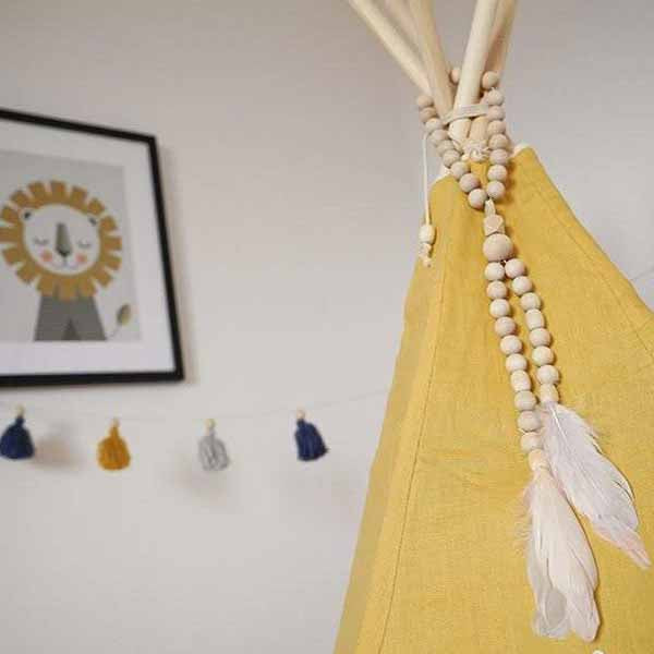 Honey Linen Teepee Tent - The Quirky Home Co
