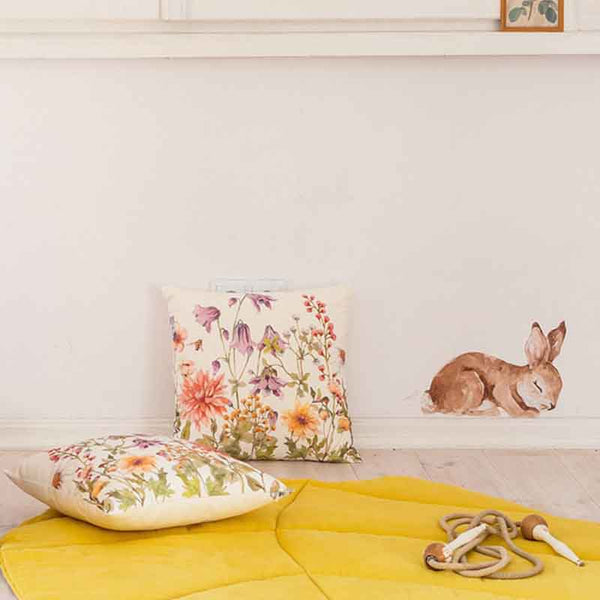 Mustard Linen Leaf Mat - The Quirky Home Co