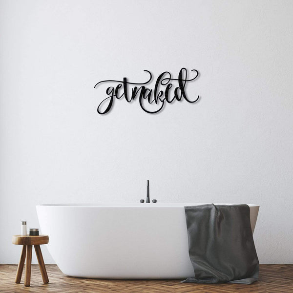 Get Naked - Metal Wall Art - The Quirky Home Co