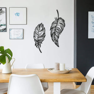 Feathers - Metal Wall Art, Set of 2 - The Quirky Home Co
