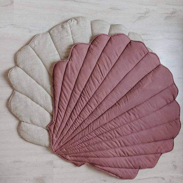 Marsala Linen Sea Shell Mat - The Quirky Home Co