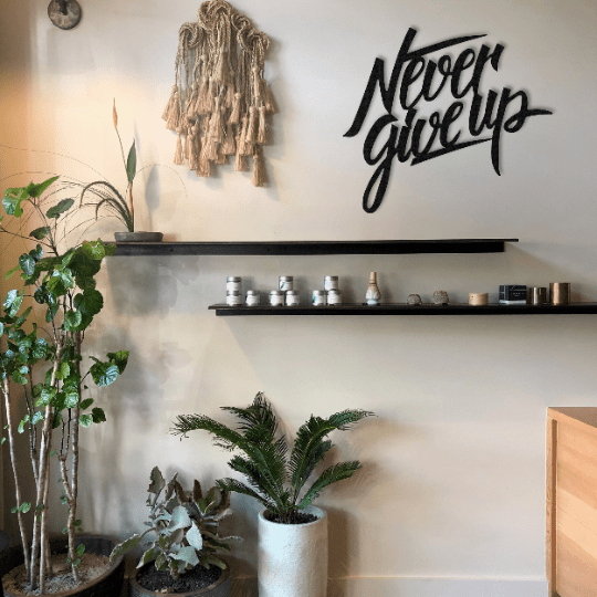 Never Give Up - Metal Wall Art - The Quirky Home Co