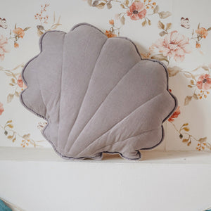 Grey Linen Shell Cushion - The Quirky Home Co