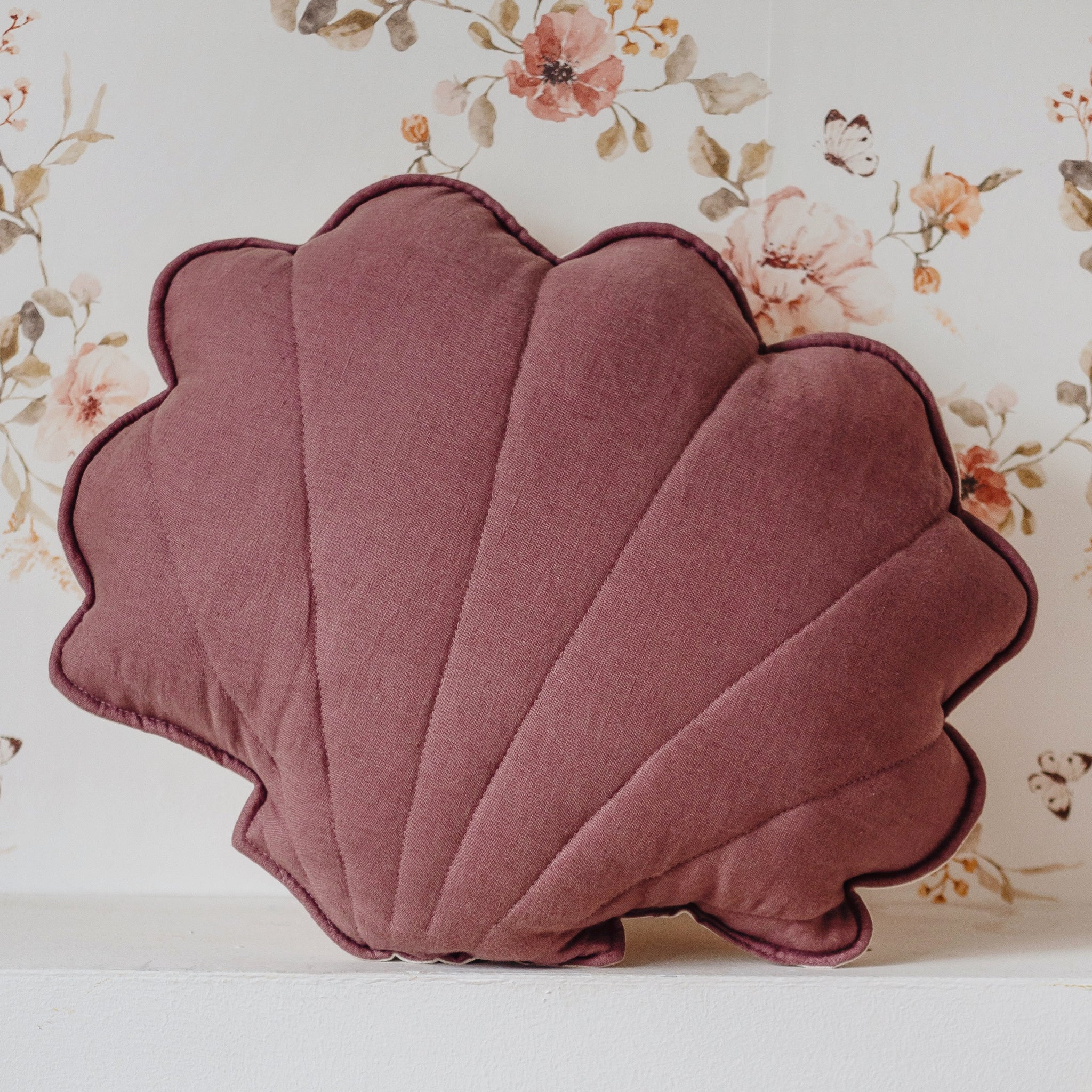 Marsala Linen Shell Cushion - The Quirky Home Co