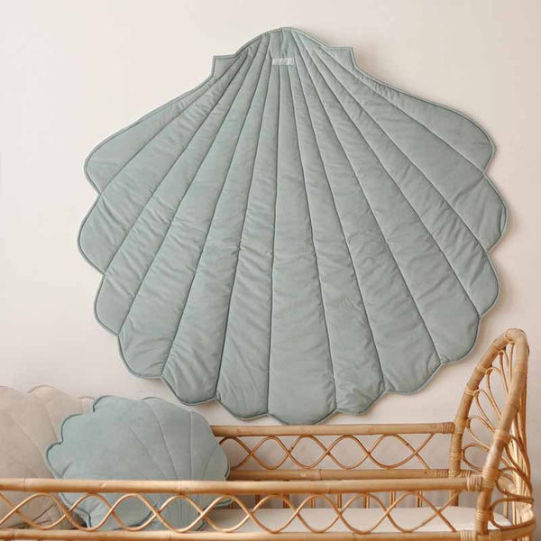 Powder Mint Velvet Shell Mat
