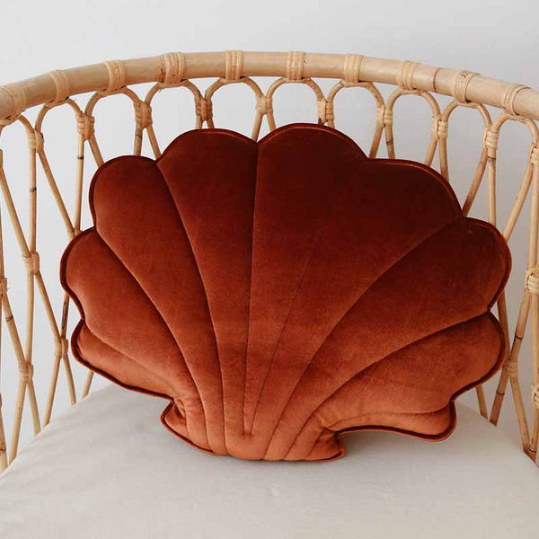 Copper Pear Velvet Shell Cushion