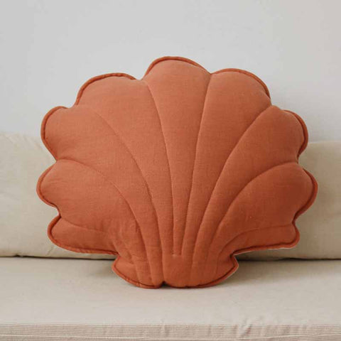Papaya Linen Shell Cushion