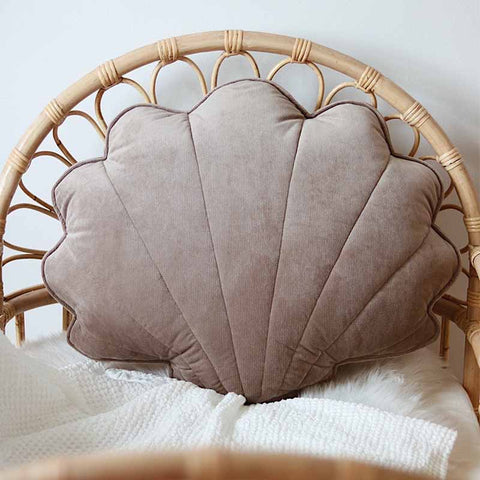 Dark Beige, Big Shell Cushion - The Quirky Home Co