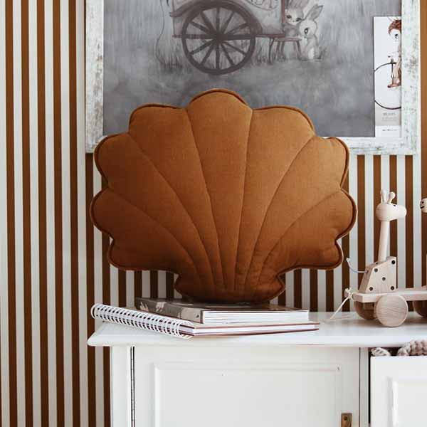 Caramel Linen Shell Cushion - The Quirky Home Co