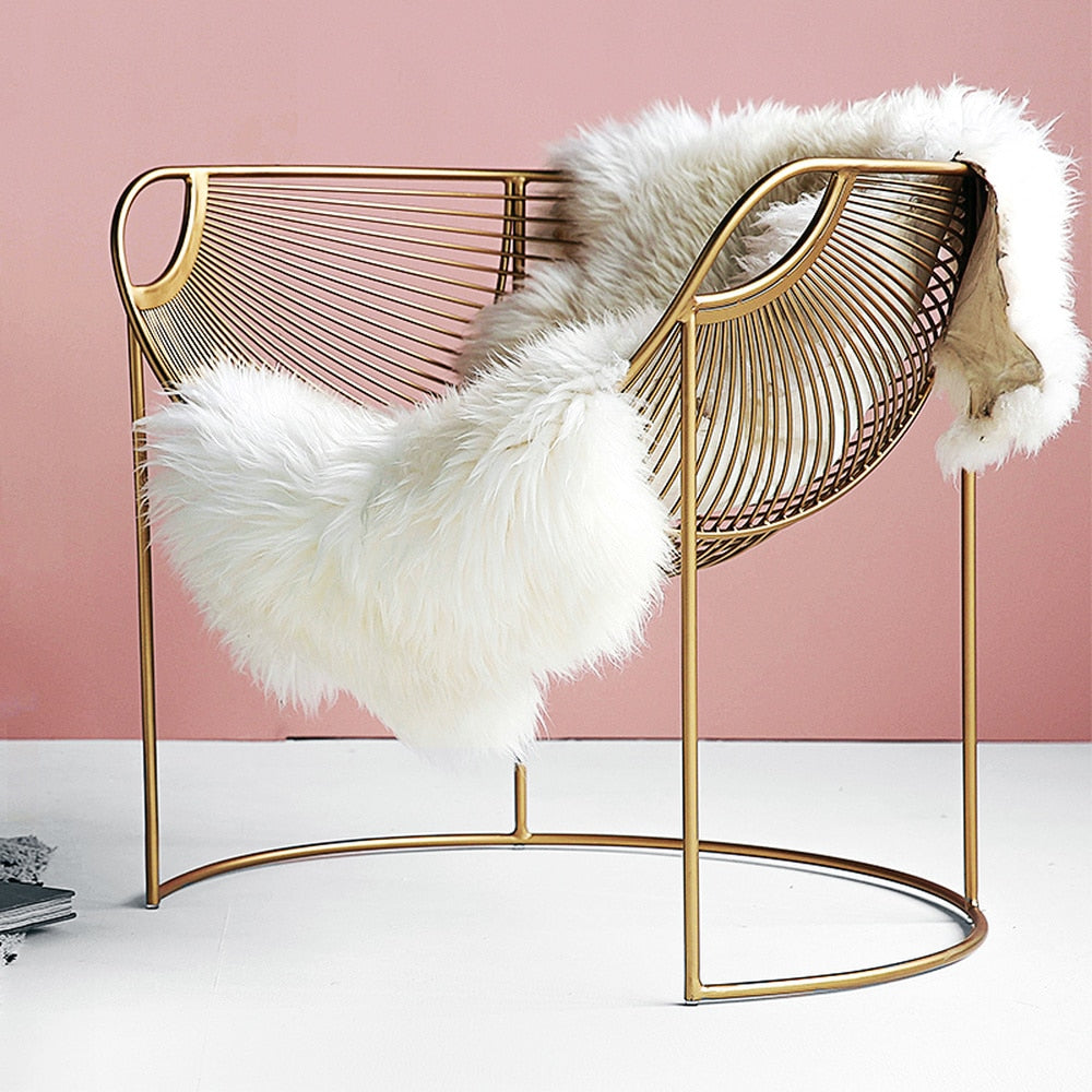 Amelia Gold Iron Chair - The Quirky Home Co