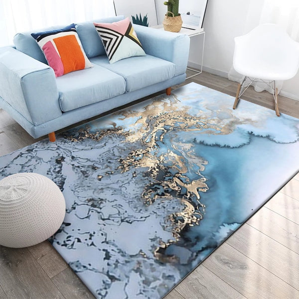 Sky Blue Seawater Rug - The Quirky Home Co