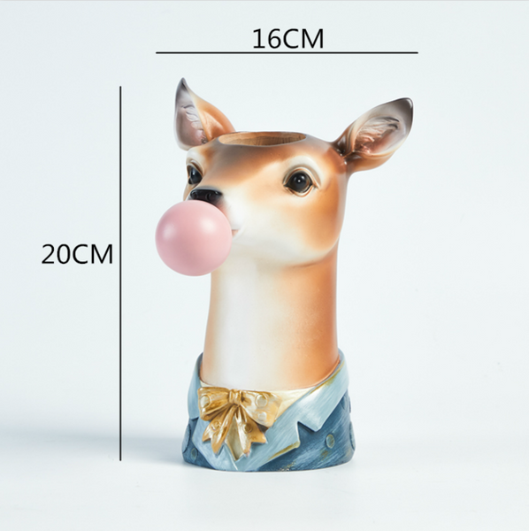 Animal Head Blowing Gum Vase - The Quirky Home Co
