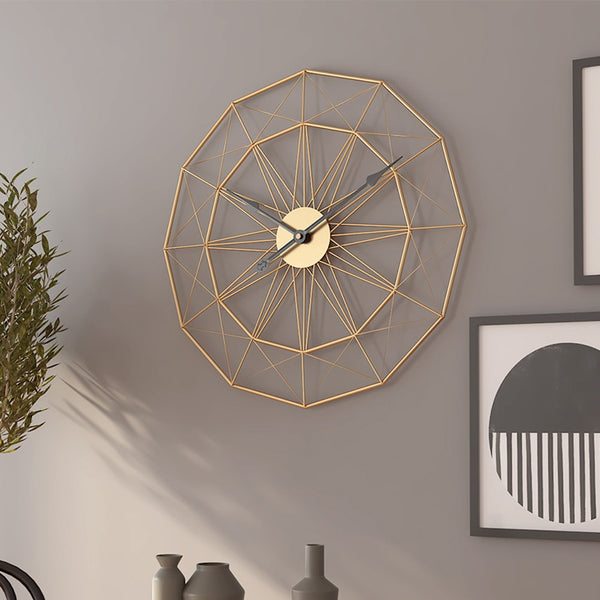 Retro Iron Art Wall Clock - The Quirky Home Co